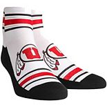 Women's White Utah Utes Classic Stripes Quarter-Length Socks