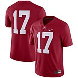 Men's Nike #17 Crimson Alabama Crimson Tide Limited Jersey