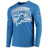 Men's G-III Extreme Blue Detroit Lions Extreme Jump Shot Long Sleeve T-Shirt