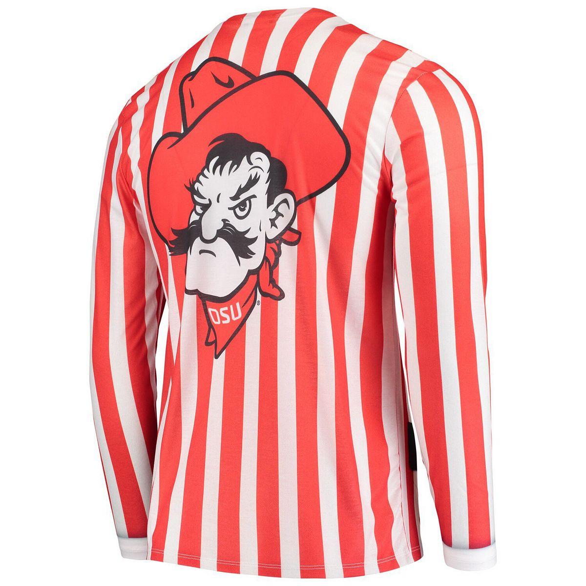 Men's Faux Real Apparel Multi Oklahoma State Cowboys Faux Suit Long Sleeve T-Shirt d96t2