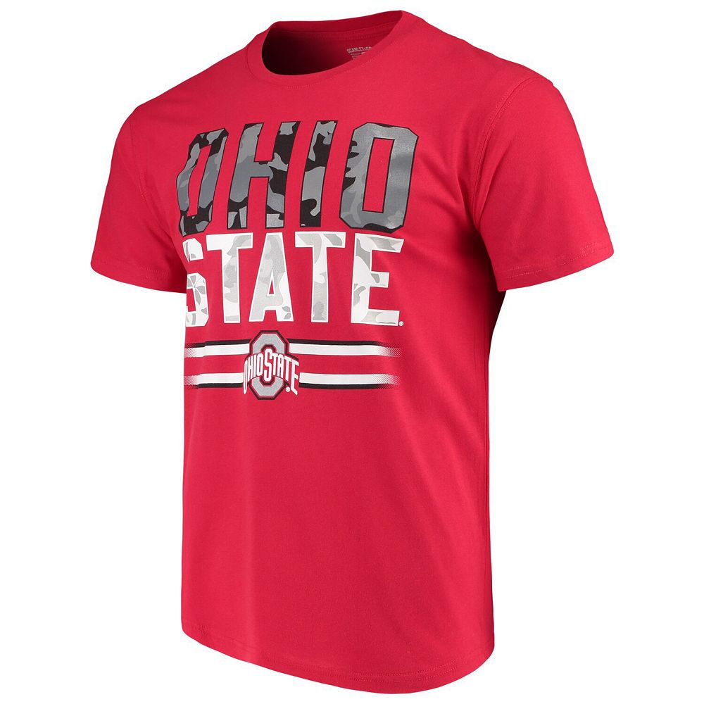 Men's Scarlet Ohio State Buckeyes Team Camo T-Shirt