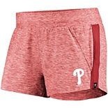 Women's Fanatics Branded Heathered Red/Red Philadelphia Phillies Made To Move Running Shorts