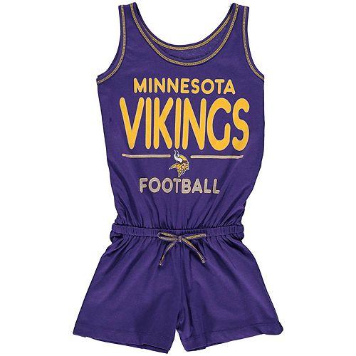 free shipping cb5e2 b6444 Girls Youth 5th & Ocean by New Era Purple Minnesota Vikings Baby Jersey  Romper