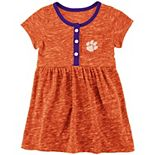 Girls Newborn & Infant Colosseum Orange Clemson Tigers Nuess Henley Dress
