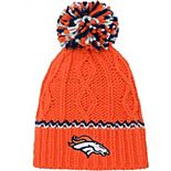 Girls Youth Orange Denver Broncos Team Color Cable Knit Beanie