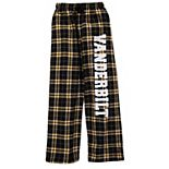 Youth Black Vanderbilt Commodores Plaid Flannel Pants