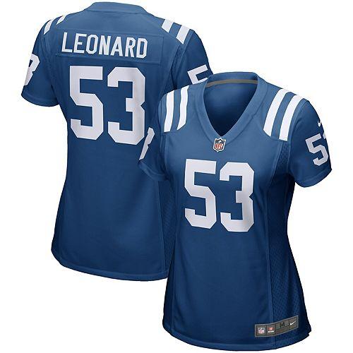 newest collection c387c ffae9 Women's Nike Darius Leonard Royal Indianapolis Colts Game ...