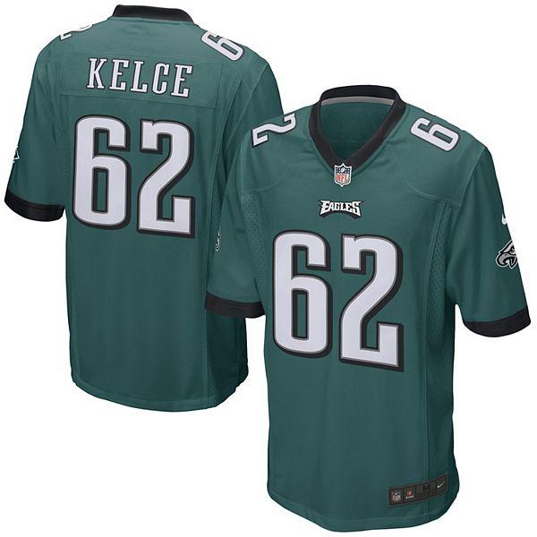 Mens Philadelphia Eagles Jason Kelce Nike Midnight Green Game Jersey