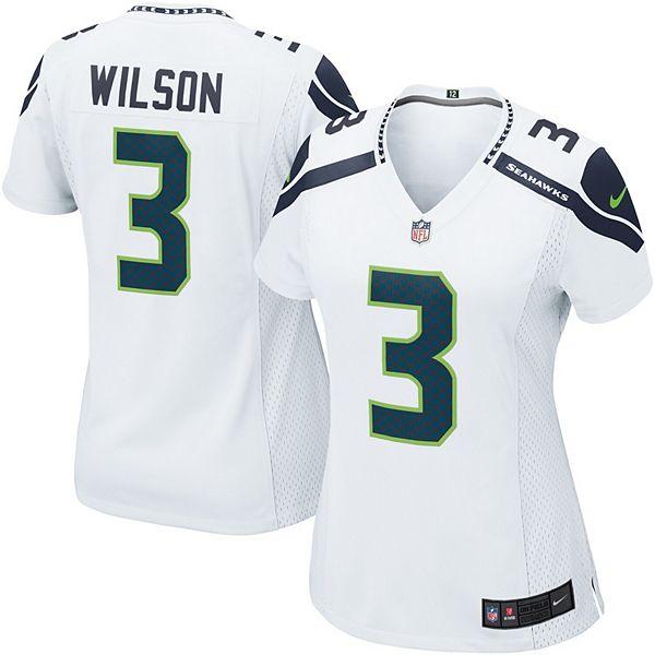 Women's Seattle Seahawks Russell Wilson Nike White Game Jersey