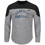 Men's Majestic Gray Los Angeles Rams Corner Blitz Long Sleeve T-Shirt