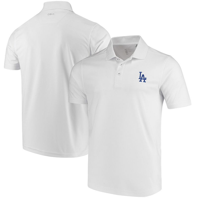 Men's CBUK by Cutter & Buck White Los Angeles Dodgers DryTec Fairwood Polo, Size: 3XL