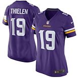 Women's Nike Adam Thielen Purple Minnesota Vikings Game Jersey
