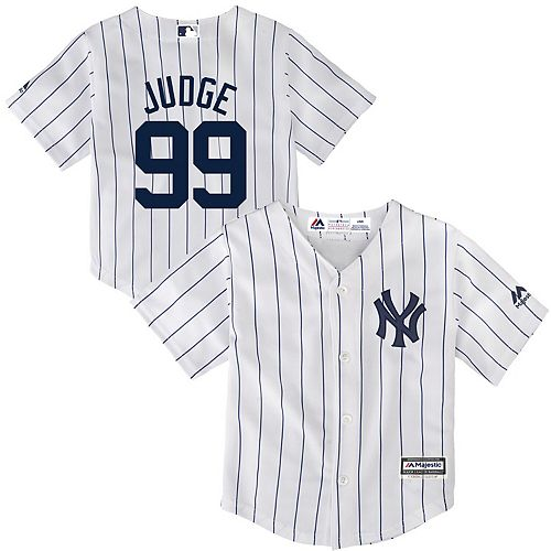 size 40 e1732 b57cd Toddler Majestic Aaron Judge White New York Yankees Cool Base Player Jersey