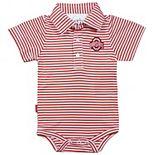 Infant Garb Scarlet/White Ohio State Buckeyes Carson Striped Short Sleeve Bodysuit