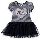 Girls Preschool Navy/White Denver Broncos Celebration Scoop Neck Tutu Dress