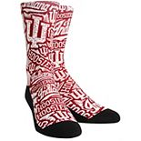 Youth Crimson Indiana Hoosiers Logo Sketch Crew Socks