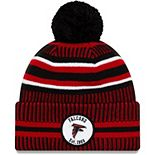 Youth New Era Black/Red Atlanta Falcons 2019 NFL Sideline Home Sport Knit Hat