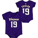 Infant Adam Thielen Purple Minnesota Vikings Mainliner Name and Number Bodysuit