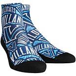 Youth Villanova Wildcats Logo Sketch Quarter-Length Socks