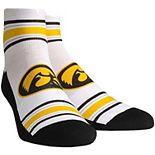 Women's White Iowa Hawkeyes Classic Stripes Quarter-Length Socks