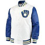 Men's Starter White Milwaukee Brewers The Legend Jacket