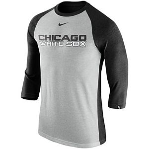 amazing price huge selection of elegant shoes Men's Nike Black Chicago White Sox Velocity Performance T-Shirt