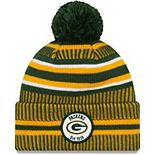 Youth New Era Green/Gold Green Bay Packers 2019 NFL Sideline Home Sport Knit Hat