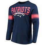 Men's Hands High Navy New England Patriots Champion Slub Long Sleeve T-Shirt