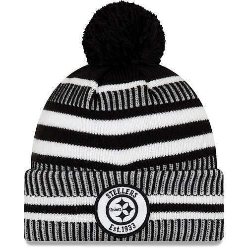 Men S New Era Black Pittsburgh Steelers 2019 Nfl Sideline Home Sport Knit Hat