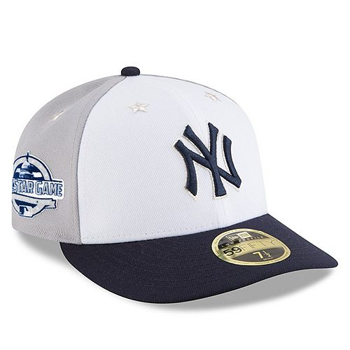 Men's New Era White/Navy New York Yankees 2018 MLB All-Star Game On-Field Low Profile 59FIFTY Fitted Hat