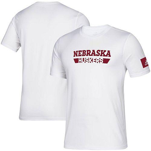 Men's adidas White Nebraska Cornhuskers 2019 Sideline Practice climalite Creator T-Shirt