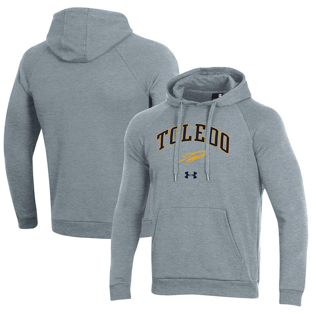 Men's Under Armour Heathered Gray Toledo Rockets Arched Pullover Hoodie