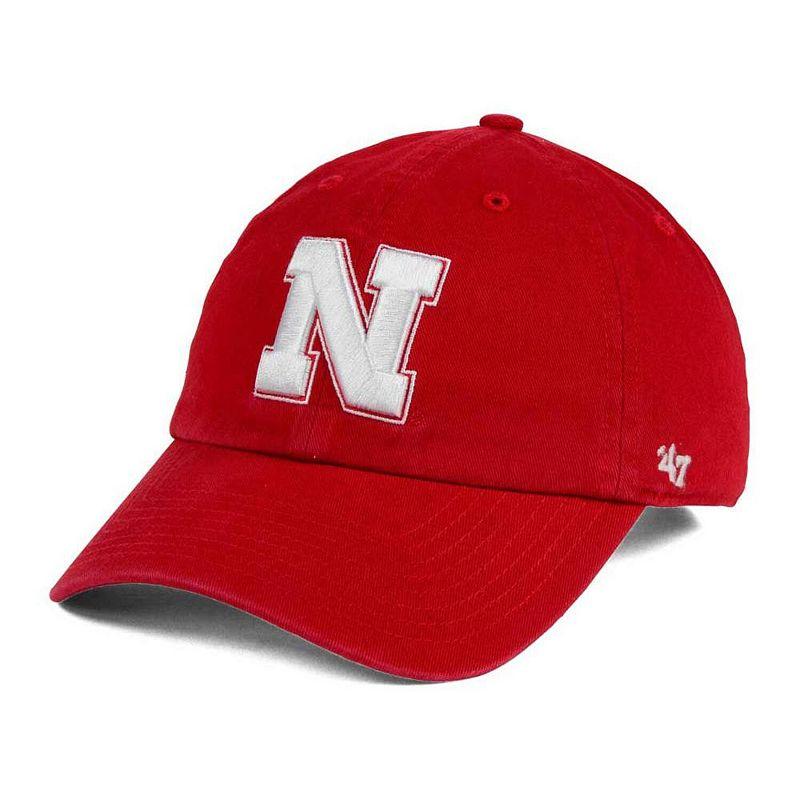 Nebraska Cornhuskers '47 Clean Up Adjustable Hat - Red. NEB Red