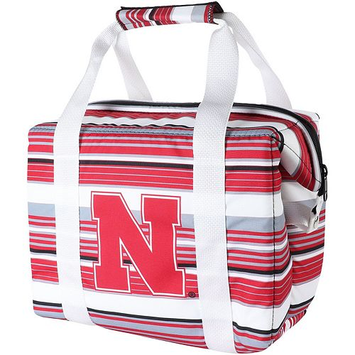 Nebraska Cornhuskers Twelve-Pack Striped Cooler