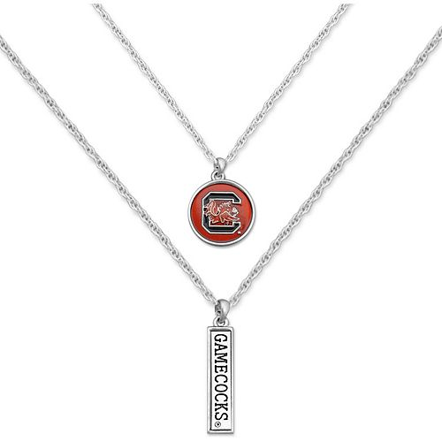 South Carolina Gamecocks Women's Campus Chic Double Down Necklace