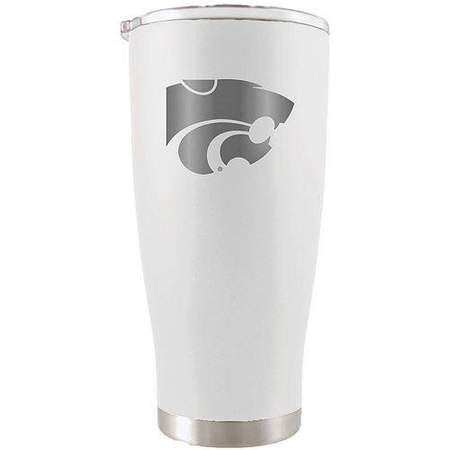 Kansas State Wildcats 20oz. Etched Team Logo Tumbler - White