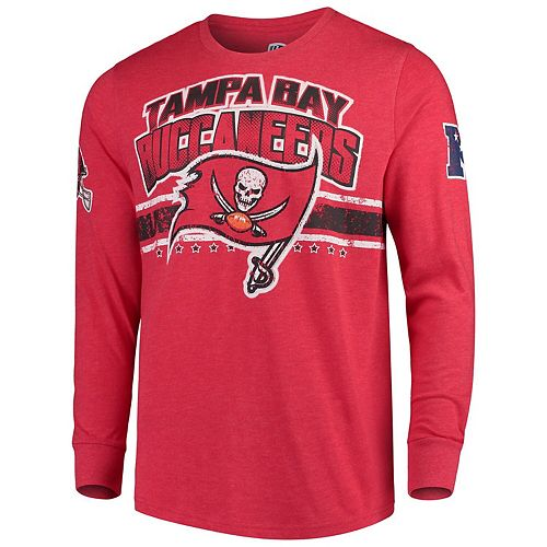 Men's G-III Extreme Red Tampa Bay Buccaneers Extreme Jump Shot Long Sleeve T-Shirt