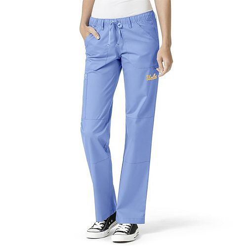 Women's Blue UCLA Bruins Straight Leg Scrub Cargo Scrub Pants