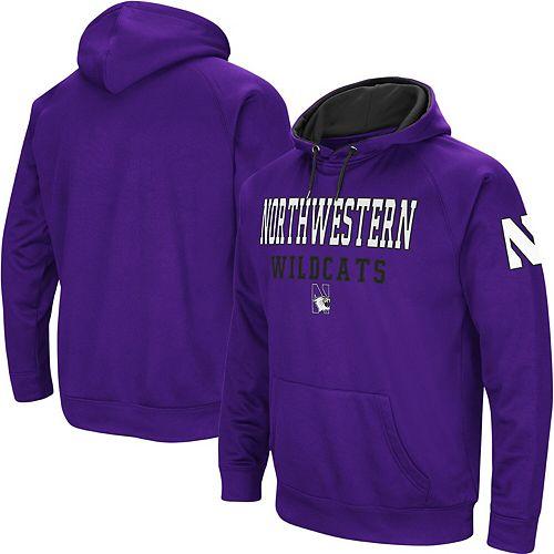 Men's Colosseum Purple Northwestern Wildcats Performance Pullover Hoodie