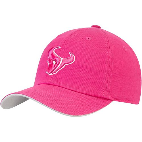 Girls Youth Pink Houston Texans Team Slouch Adjustable Hat