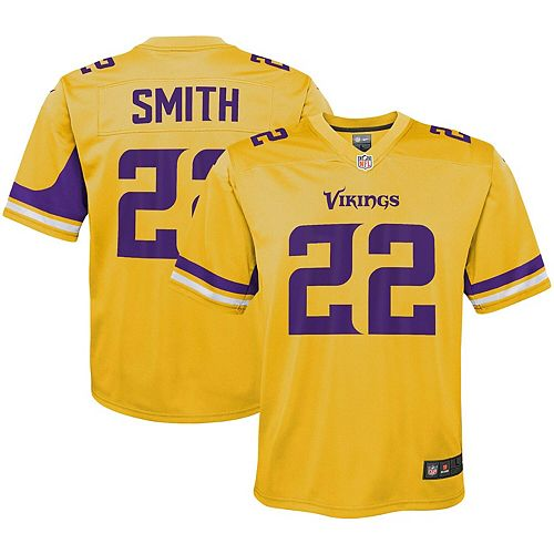 Youth Nike Harrison Smith Gold Minnesota Vikings Inverted Game Jersey