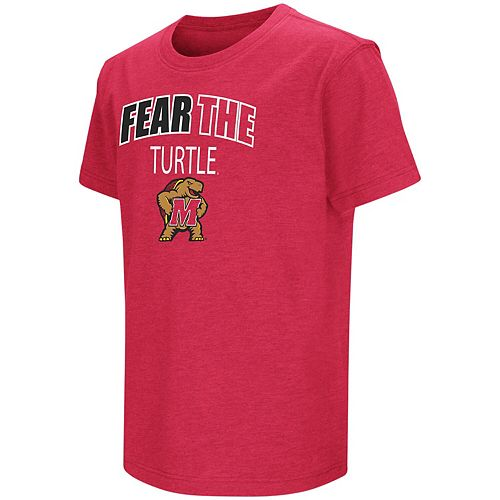 Youth Colosseum Red Maryland Terrapins Bold Logo Chant T-Shirt