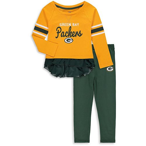 Girls Toddler Gold Green Bay Packers Mini Formation Set
