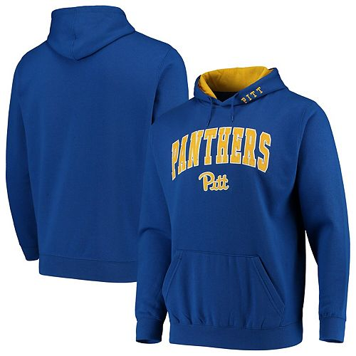 unique design uk availability hot sale online Men's Colosseum Royal Pitt Panthers Arch & Logo Pullover Hoodie