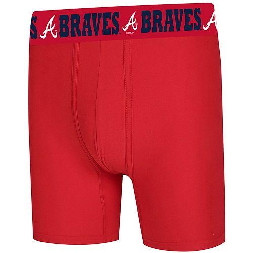 Men's Concepts Sport Red Atlanta Braves Fairway Boxer Briefs