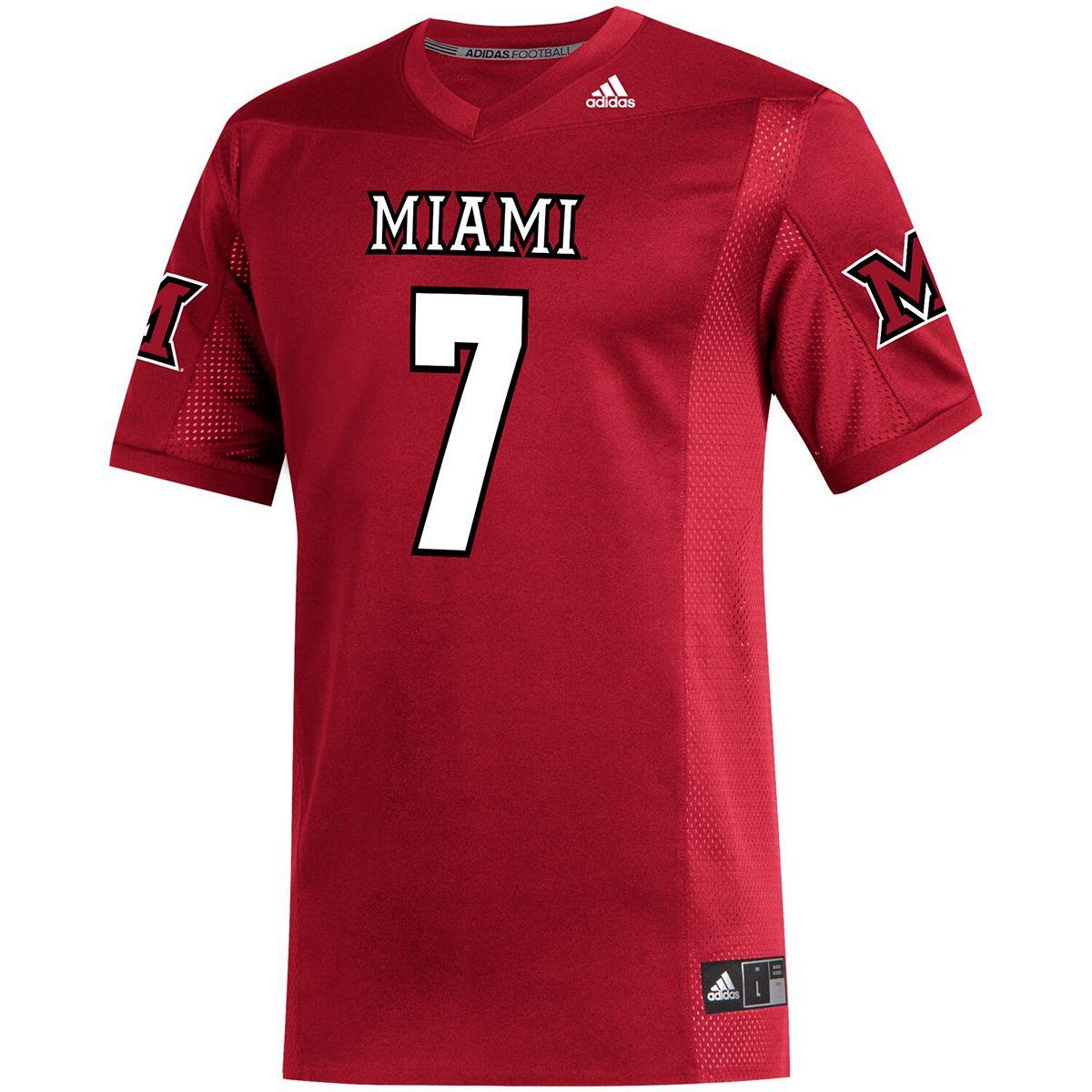 Men's adidas Ben Roethlisberger Red Miami University RedHawks Alumni Replica Football Jersey rulb0
