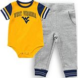 Infant Colosseum Gold West Virginia Mountaineers Baseball Bodysuit and Pants Set
