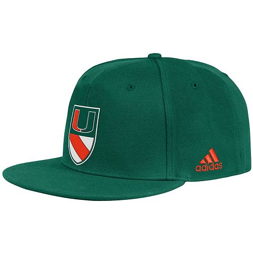 Men's adidas Green Miami Hurricanes Ultra Flex Hat