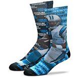 Men's For Bare Feet Cam Newton Carolina Panthers Say My Name Crew Socks