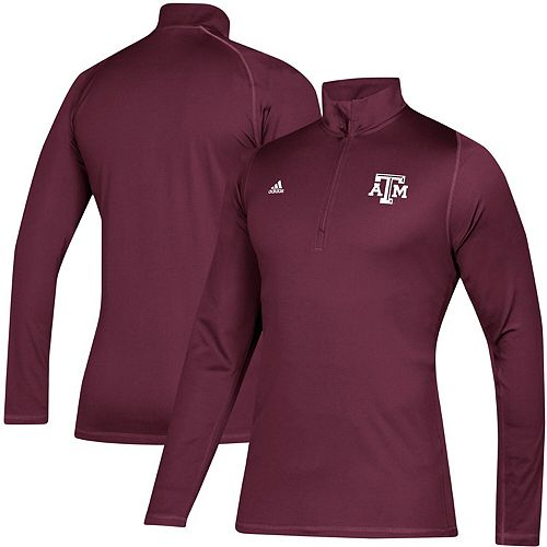 Men's adidas Maroon Texas A&M Aggies Freelift Sport Quarter-Zip Jacket